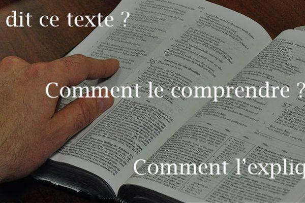 Comment chercher le sens d'un texte biblique